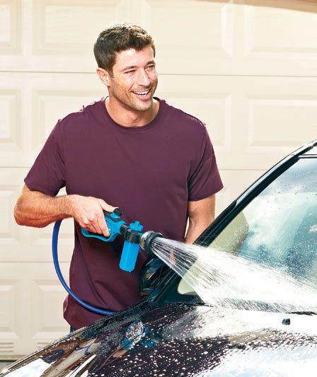 Car Soap Dispensing Nozzle Gun Wash Rinse Clean Hose Sprayer Power