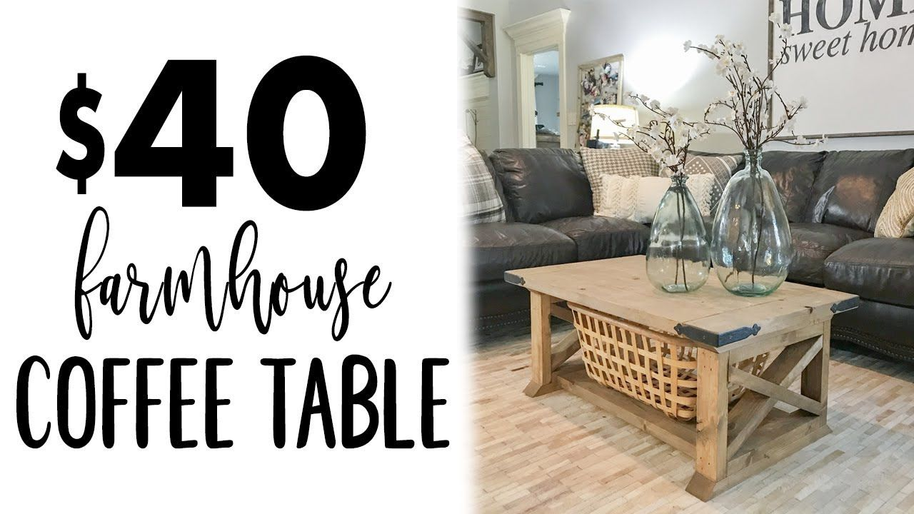 Diy 8 Board Farmhouse Coffee Table Youtube For The Home In