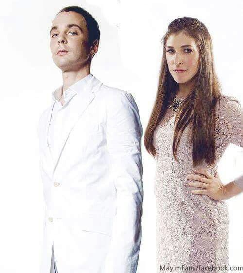 Sheldon Lee Cooper Ph.D. and Amy Farrah Fowler aka Jim Parsons and Mayim Bialik