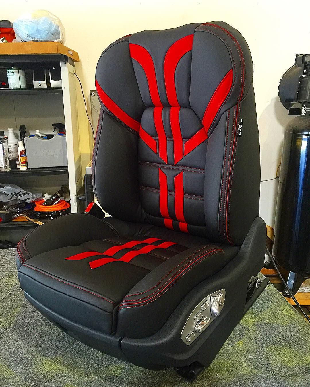 Porsche Cayenne Custom Leather Seats Black Red Silver Car Interior Pinterest