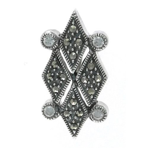 Aura 925 Sterling Silver Marcasite Pendant with CZ White Gemstone - Free Shipping Aura by Silver Master, http://www.amazon.co.uk/dp/B00I4L2WJO/ref=cm_sw_r_pi_dp_NOUatb1MF7M58
