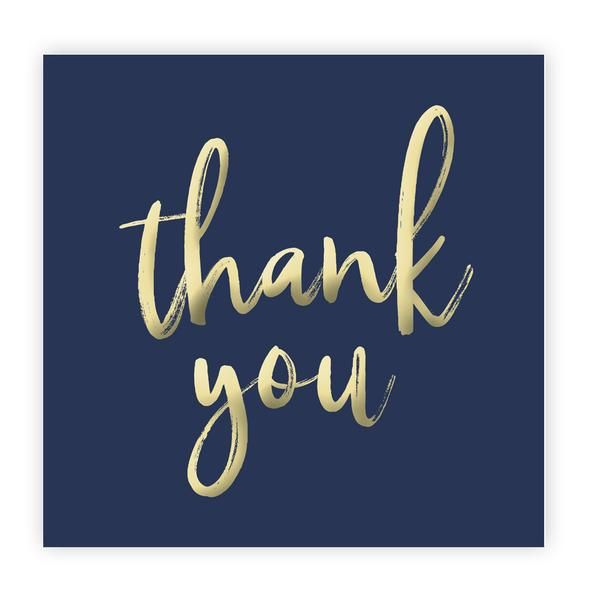 Thank You Sticker Printables | Blue