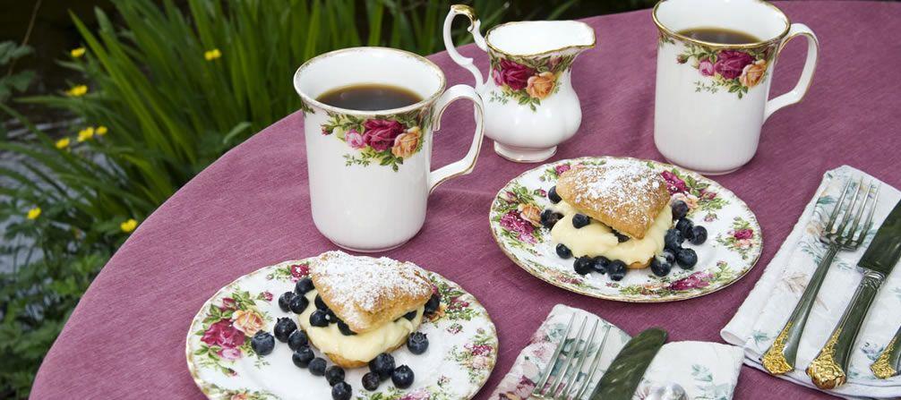 Blueberry & Bavarian Cream Puffs.
