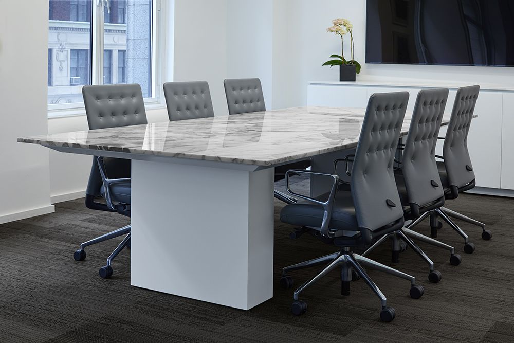 Flow NT Stone Top Conference Table Showroom Stone Top Meeting - Stone conference table