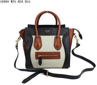 Celine Bags Boston Leather Black Beige Coffee Hot Sale   Celine Bags ... 9d80918614