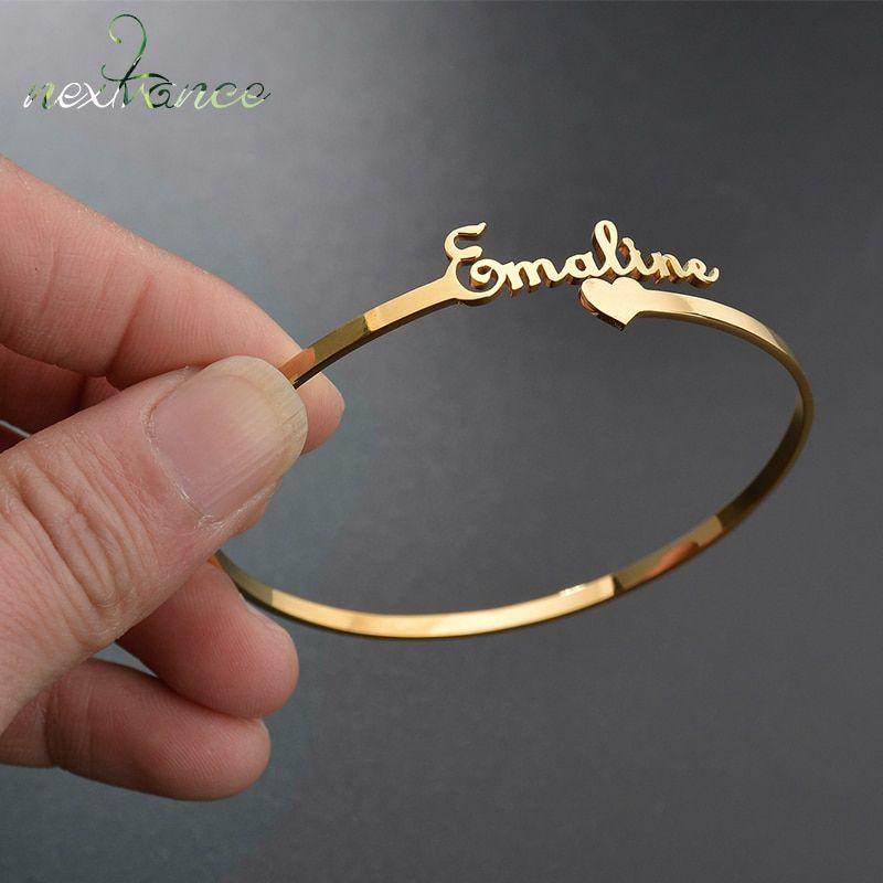 Customize Nameplate Bracelet Personalized Nameplate Bracelet Any Name Bracelet 15 Fonts Style Customize Your Nameplate Bracelet