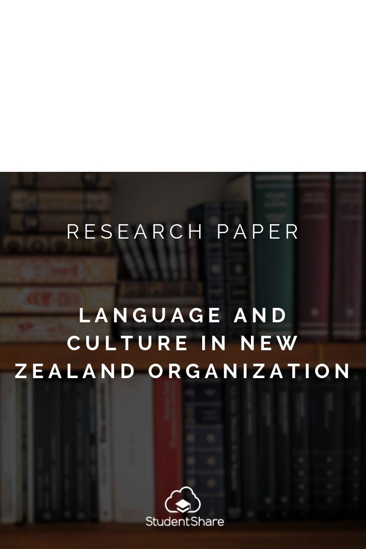 research paper organizational structure