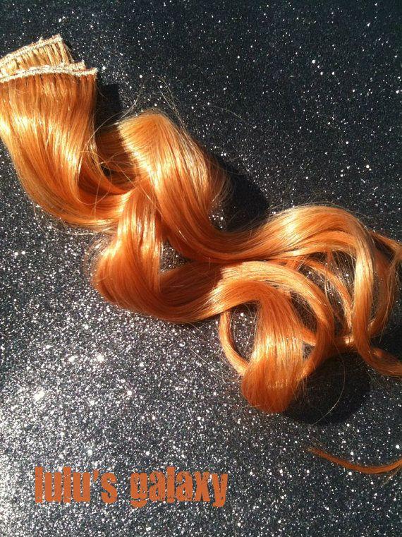 R O S E gold golden copper pink auburn human hair by LulusGalaxy