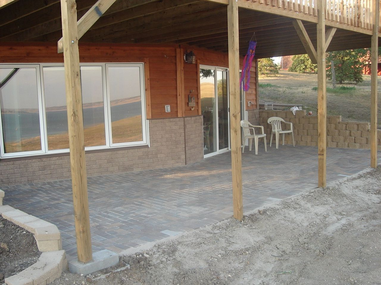 Walk out basement this is what i want the back of our for Walkout basement patio ideas