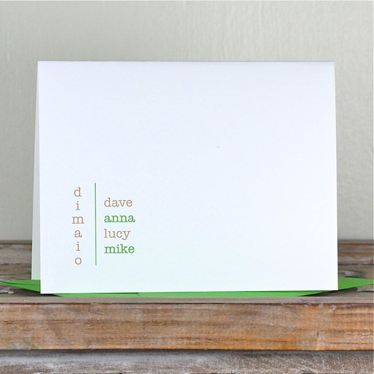 Personalized Papers Executive Stationery: Personalized Note Cards, Family Note Cards, Personalized