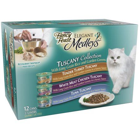 Purina Fancy Feast Elegant Medleys Tuscany Collection Variety Pack Wet Cat Food, 3 Oz, 12 Pack