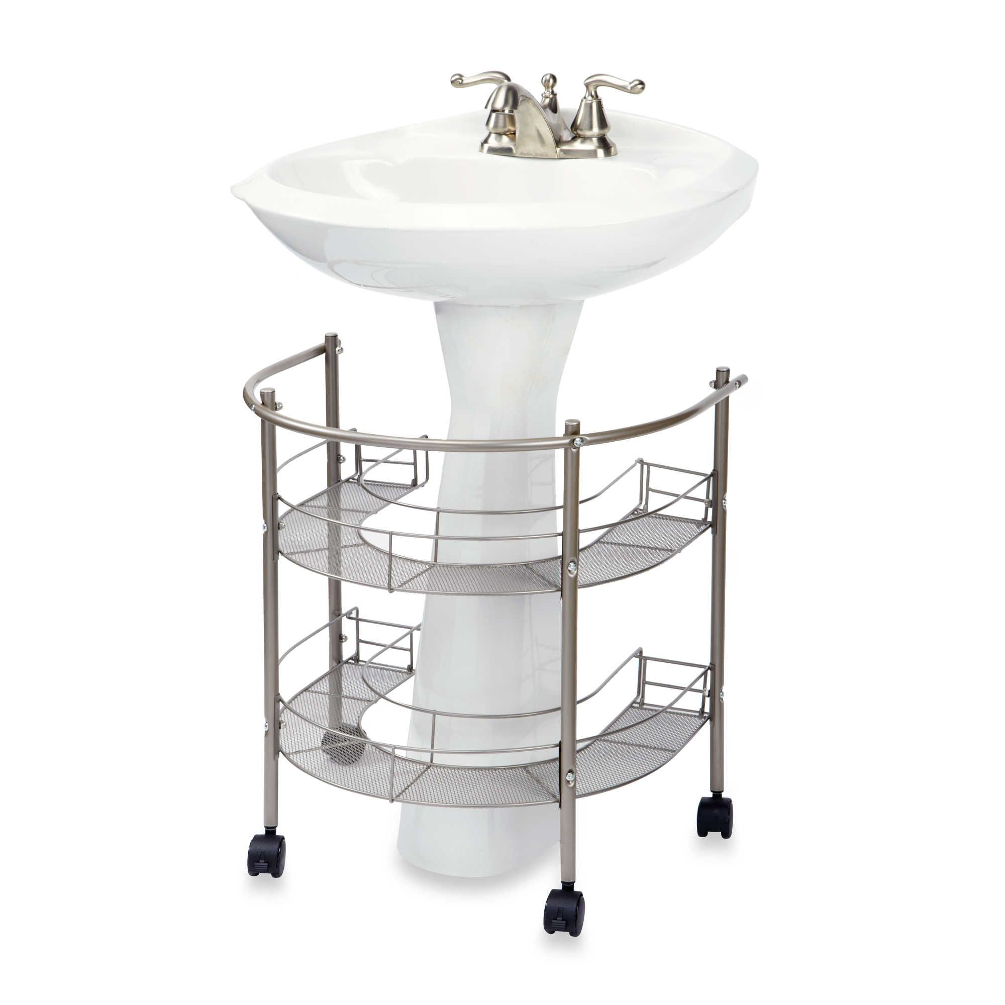 Rolling Organizer For Pedestal Sink