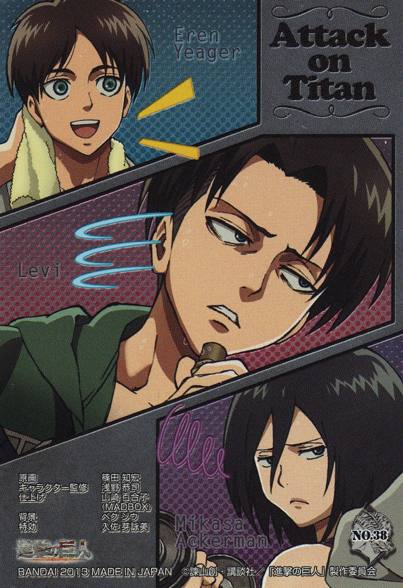 Tags Scan Official Art Artist Request Shingeki No Kyojin Mikasa Ackerman Rivaille Eren Jaeger Attack On Titan Anime Attack On Titan Attack On Titan Levi