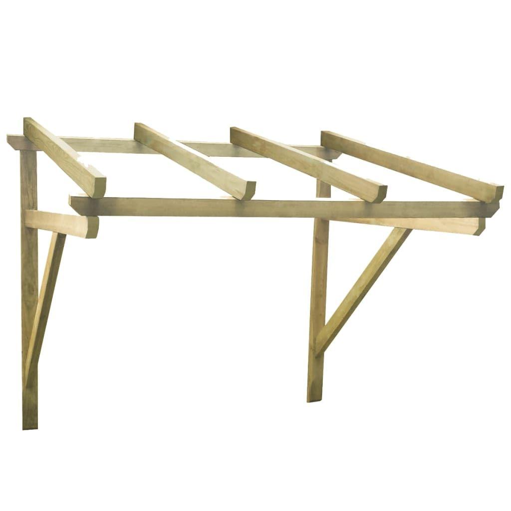Door canopy 150 × 150 × 160 cm solid pine wood