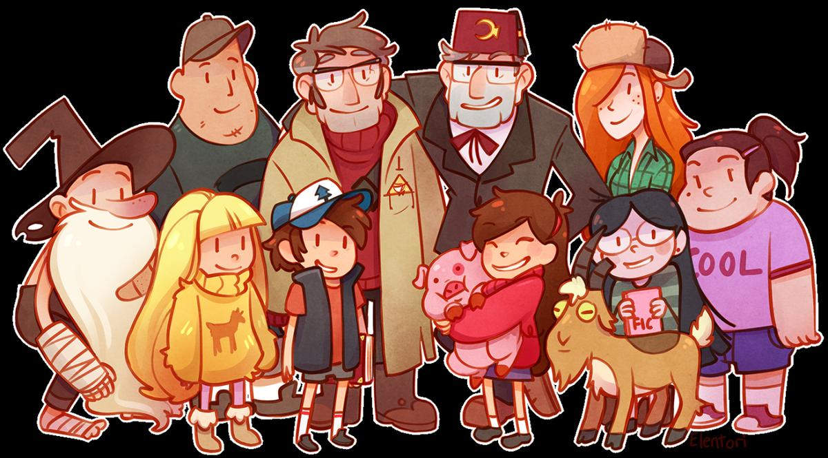 Картинки аниме гравити фолз все персонажи