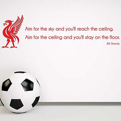 Bill Shankly Liverpool FC Quote Wall Sticker Decal - Football is a matter of life and death - Wall Art