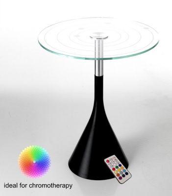 Tavolino Comodino Tondo con Led Colorati Tavolini
