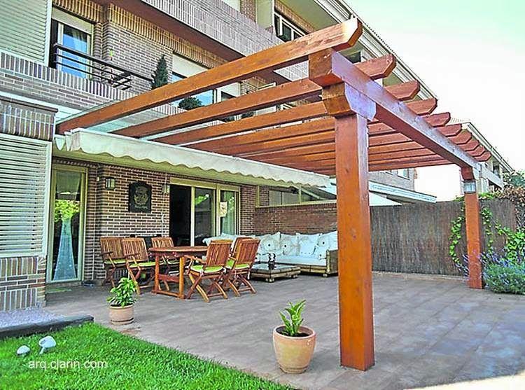 Image result for pergolas en madera y policarbonato for Modelos de terrazas en madera