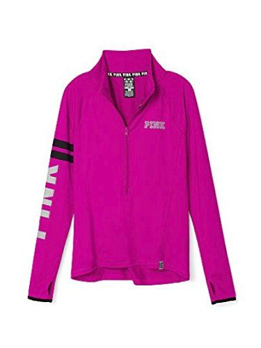Victorias Secret Pink Ultimate Deep Zip Pullover Magenta Medium >>> You can get more details by clicking on the image.