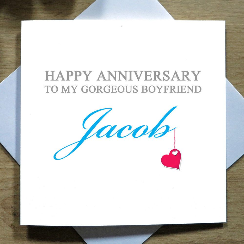 gbp personalised handmade anniversary card for him