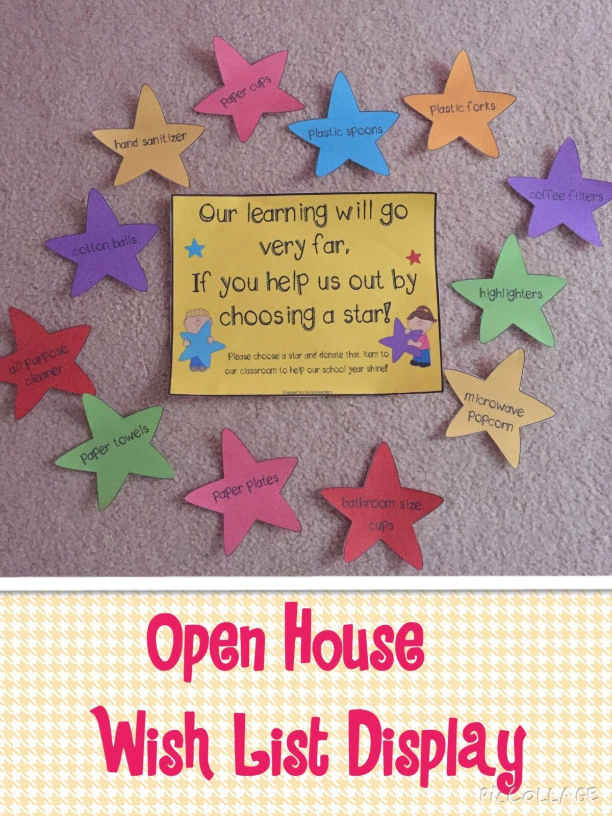 Open House Wish List Classroom Donation Ideas Preschool Open