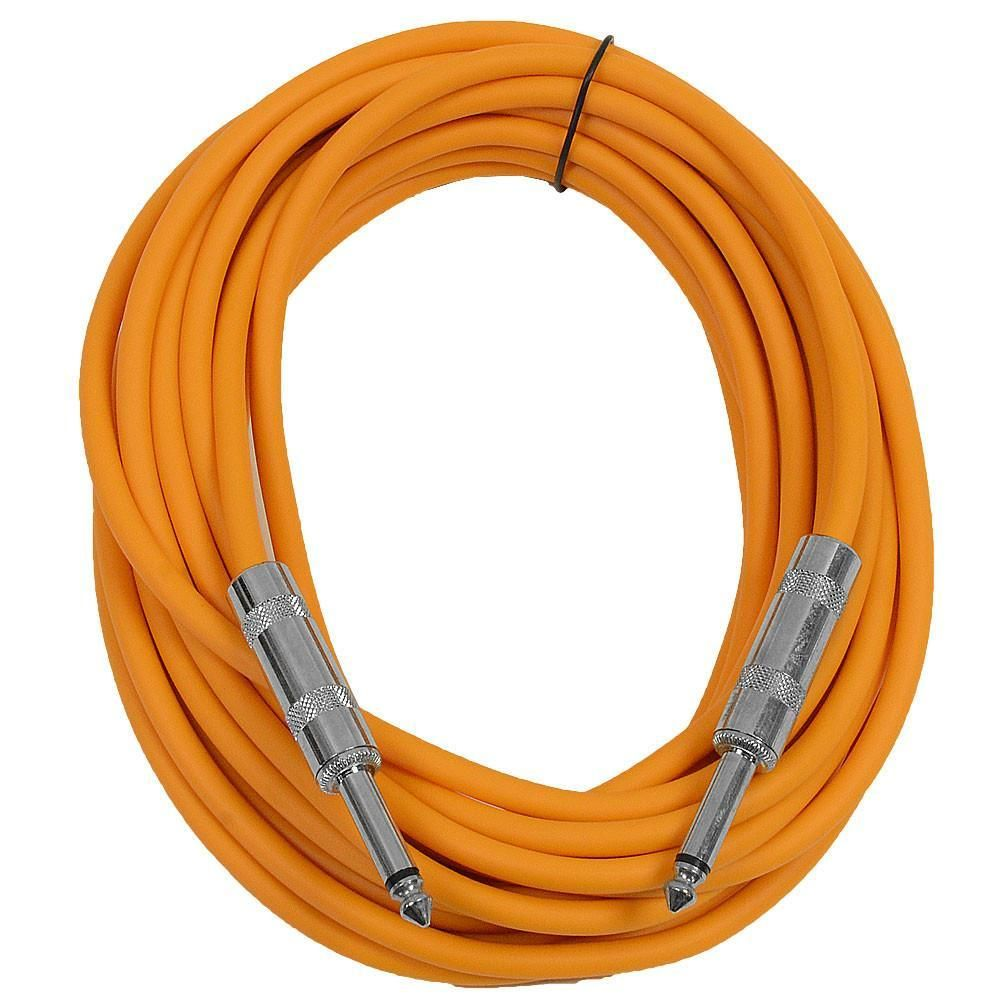 Sastsx 25 Orange 25 Foot Ts Patch Cable Instruments Shielded Cable Foam Ear Plugs