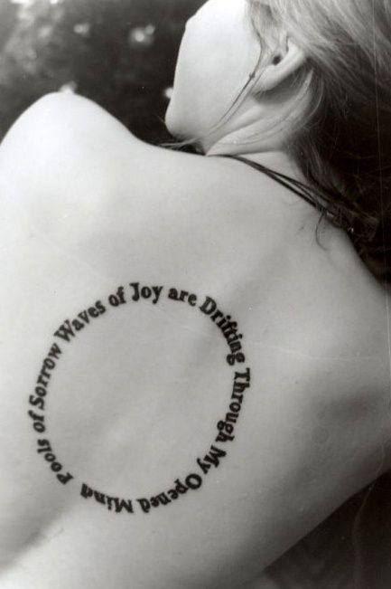 """Beatles tattoo  """"Pools of sorrow waves of joy are drifting through my open mind"""""""