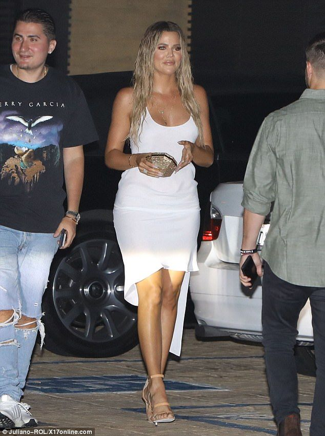 Khloe Kardashian is white hot on date night with Tristan