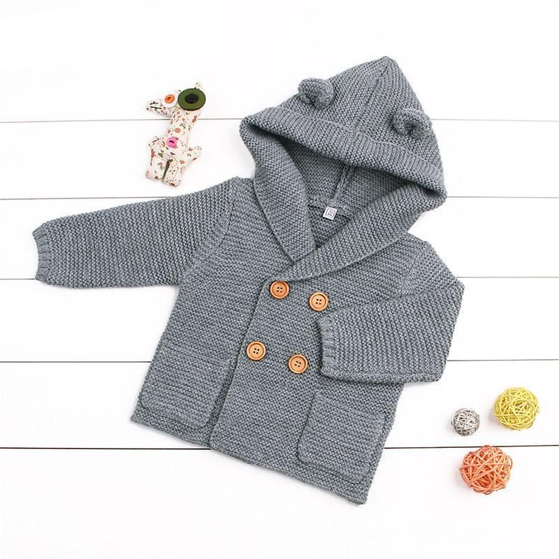 040a817d6 Beary Ears Knit Baby Sweater