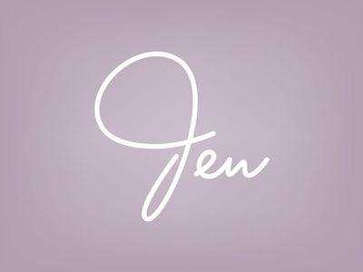Jen Custom Logotype Custom Logotype Name Wallpaper Logotype