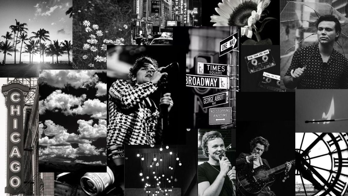 Black N White Harry Ashton Wallpaper Pc In 2020 Harry Styles Wallpaper Aesthetic Desktop Wallpaper Desktop Wallpaper Art