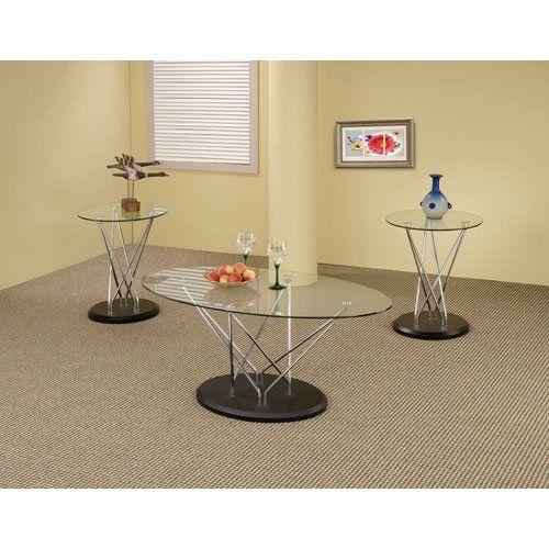 Http://smithereensglass.com/coaster Furniture Chrome Occasional
