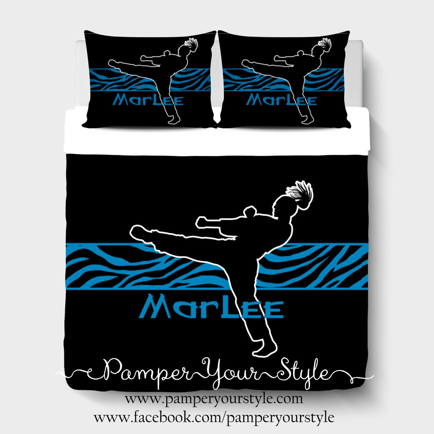 Karate Comforter Martial Arts Bedding S Bedroom Avaliable In Any Color Or Style Design Your Own By Pamperyourstyle On Etsy