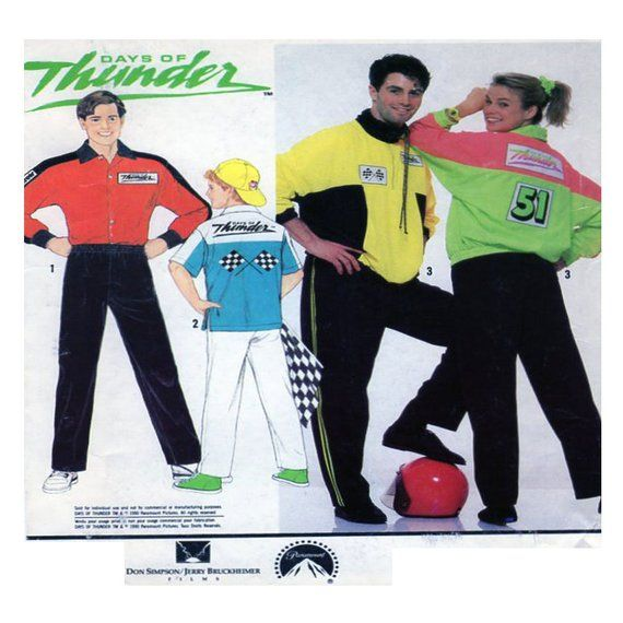 Adult / Couple / Group Costume, Days of Thunder, Simplicity 9848, Pit Crew,  Movies, Nascar, Racing Jumpsuit, All Sizes, UNCUT Sewing Pattern