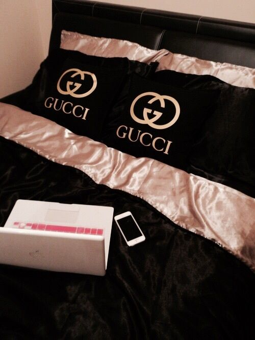 gucci, bed, and luxury image
