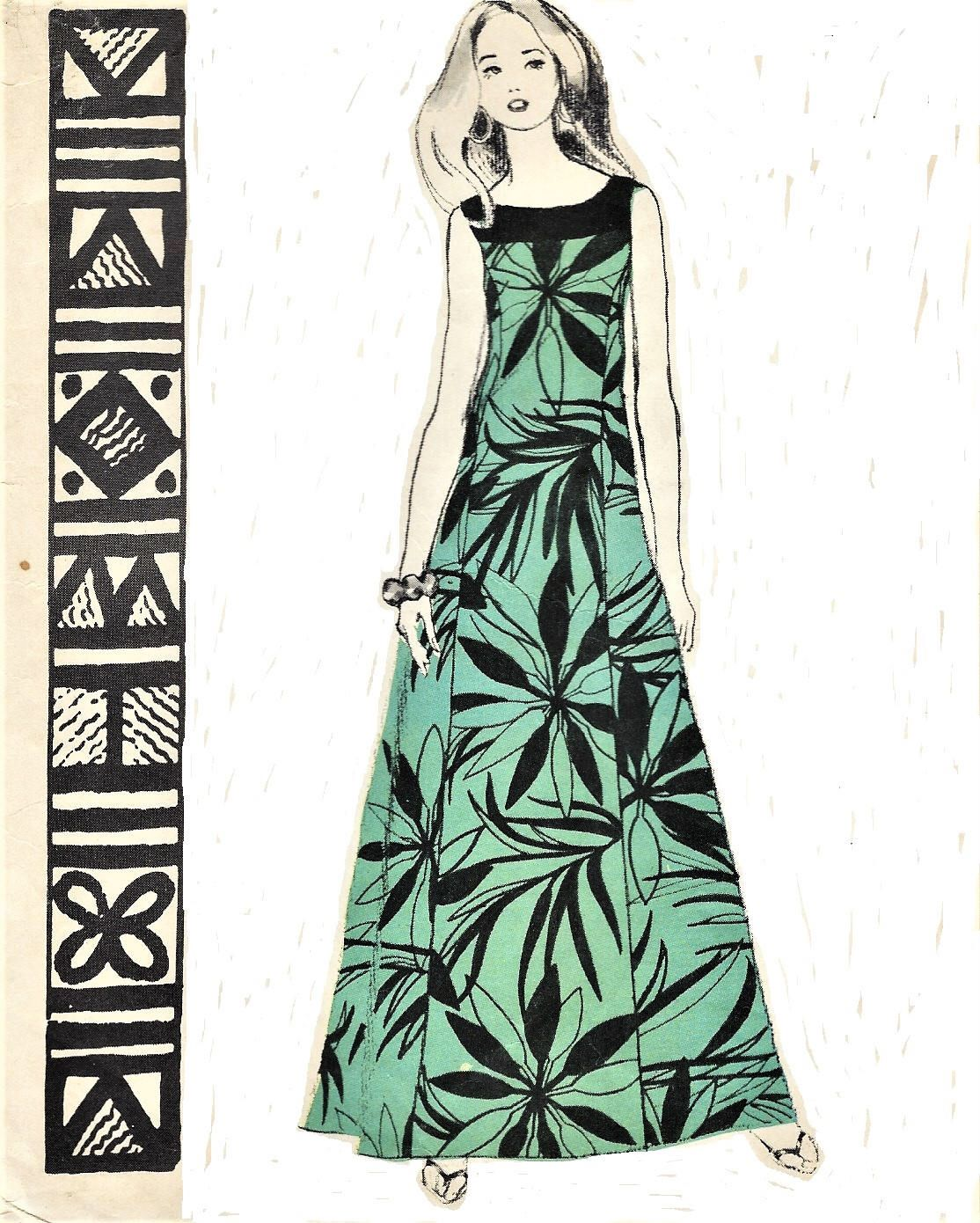S womens hawaiian muu muu lani maxi dress with yoke pleated back