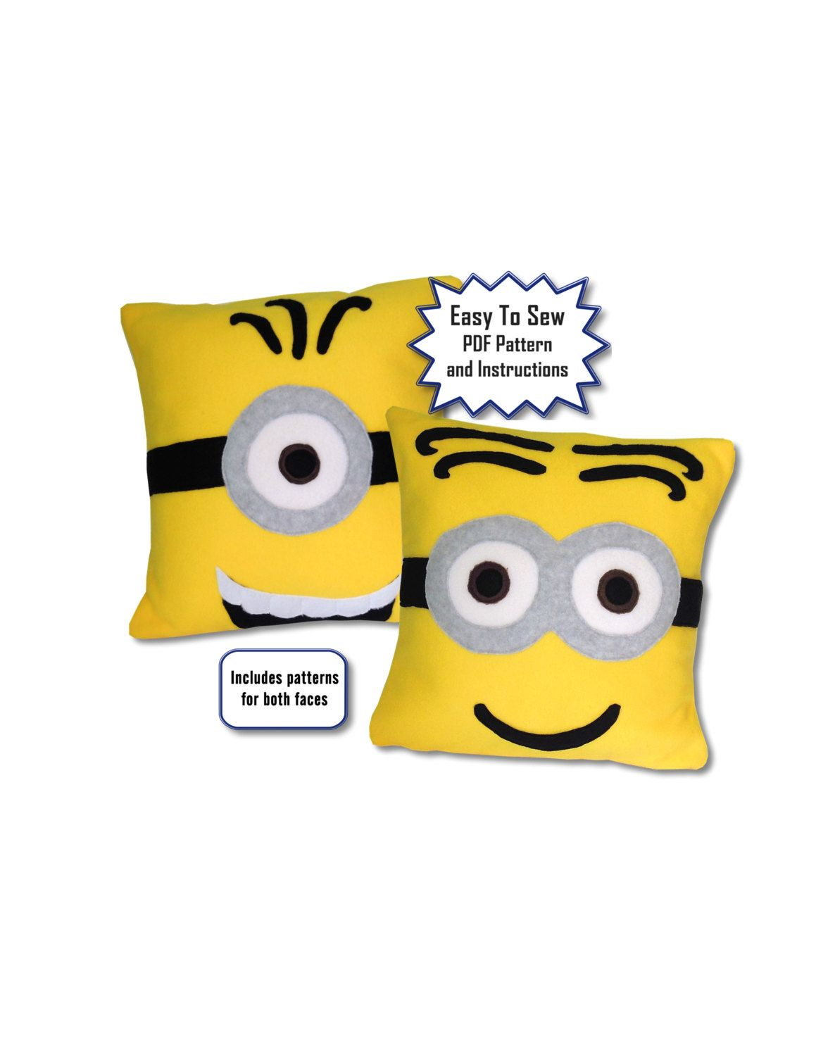 Minions Pillow Pattern, Fleece, Minions Movie and Despicable Me by ...