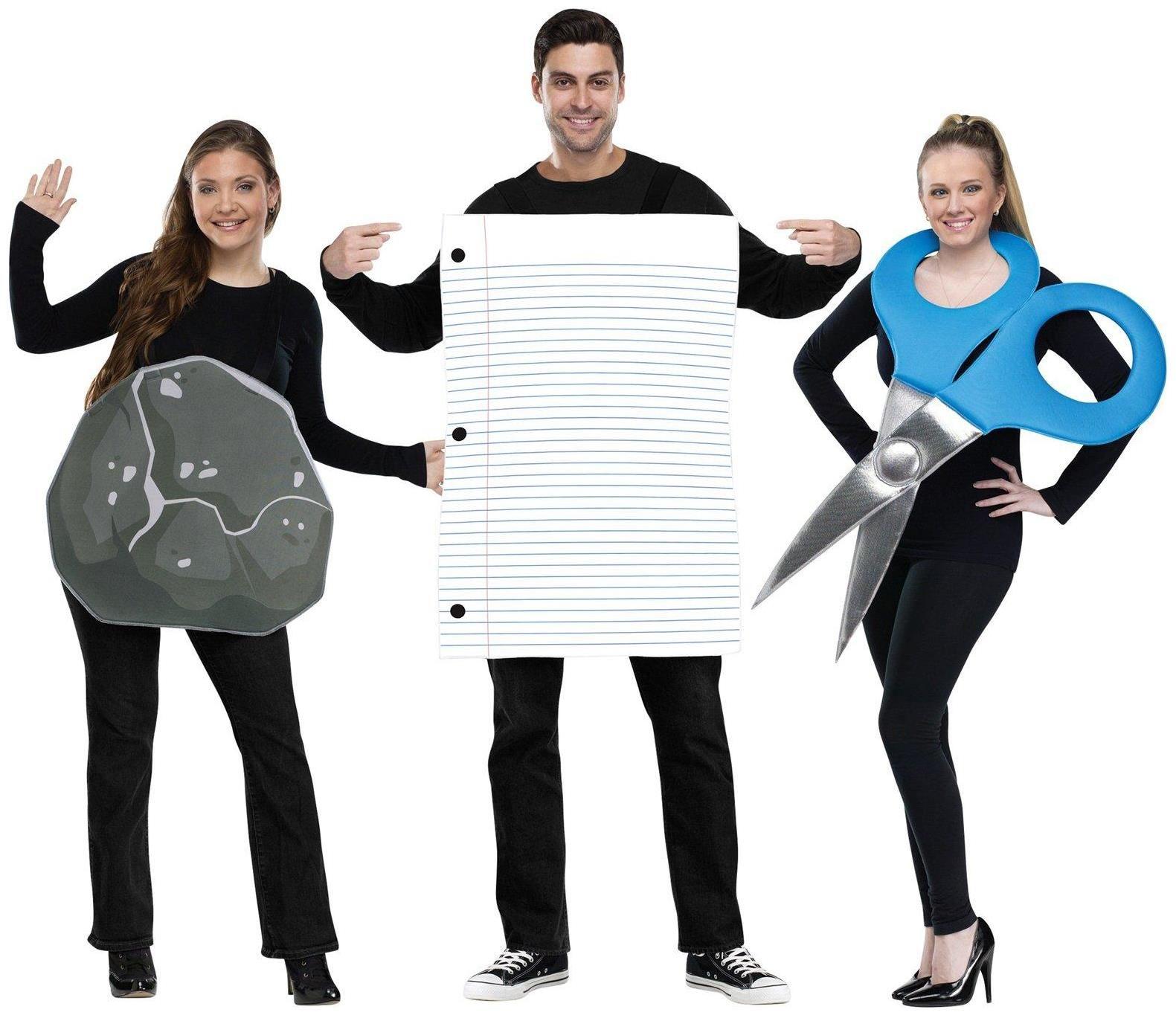 Rock, Paper, Scissor Adult Costume \