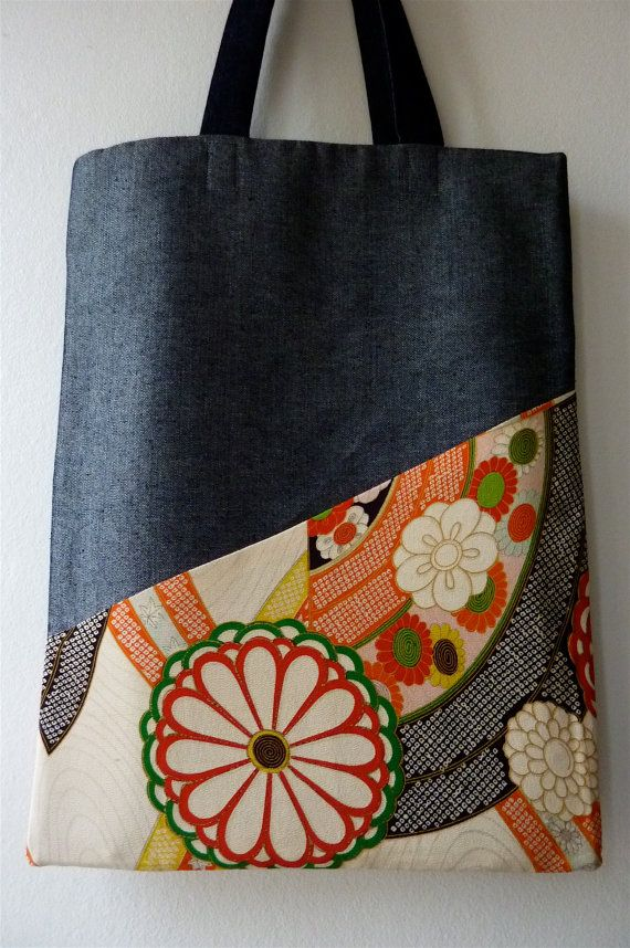 Cream Red Kiku Vintage Japanese Girls' Kimono Silk and by Lachfish