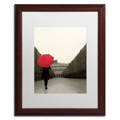 "Trademark Art 'Paris Stroll I Feet' by Sue Schlabach Framed Photographic Print Size: 20"" H x 16"" W"