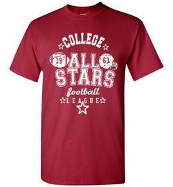 All Stars football league printed American football t shirt tee
