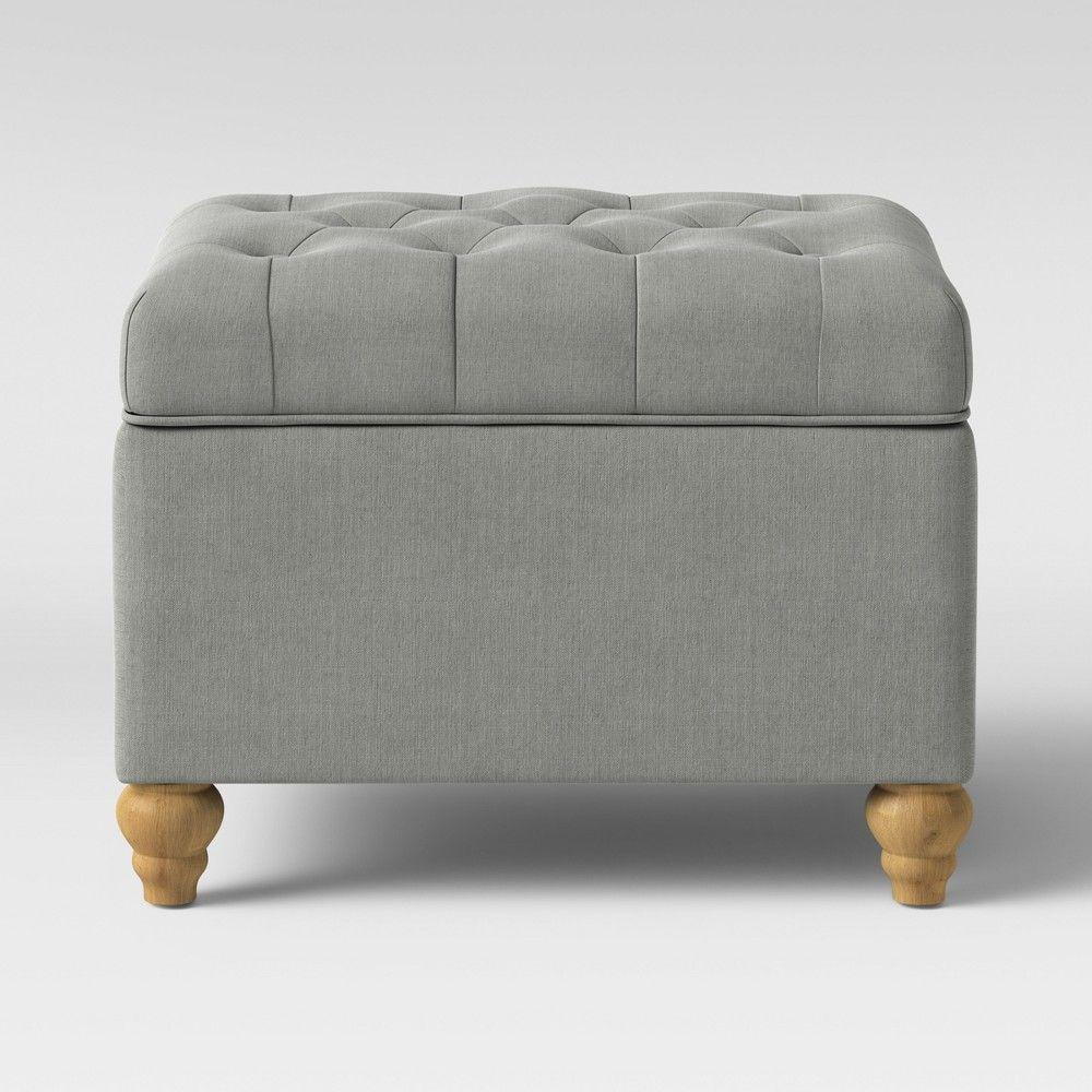 Prime Frankford Tufted Storage Ottoman Light Gray Threshold In Creativecarmelina Interior Chair Design Creativecarmelinacom
