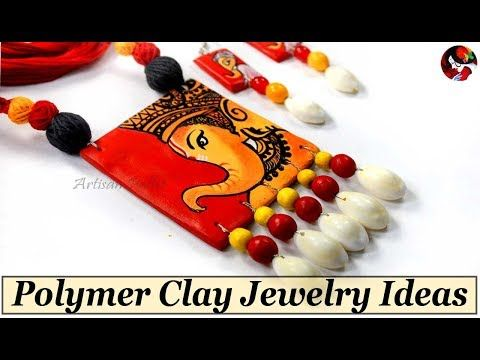 How To Make Handmade DIY Polymer Clay Jewelry at Home   Easy Terracotta Jewellery Making Techniques