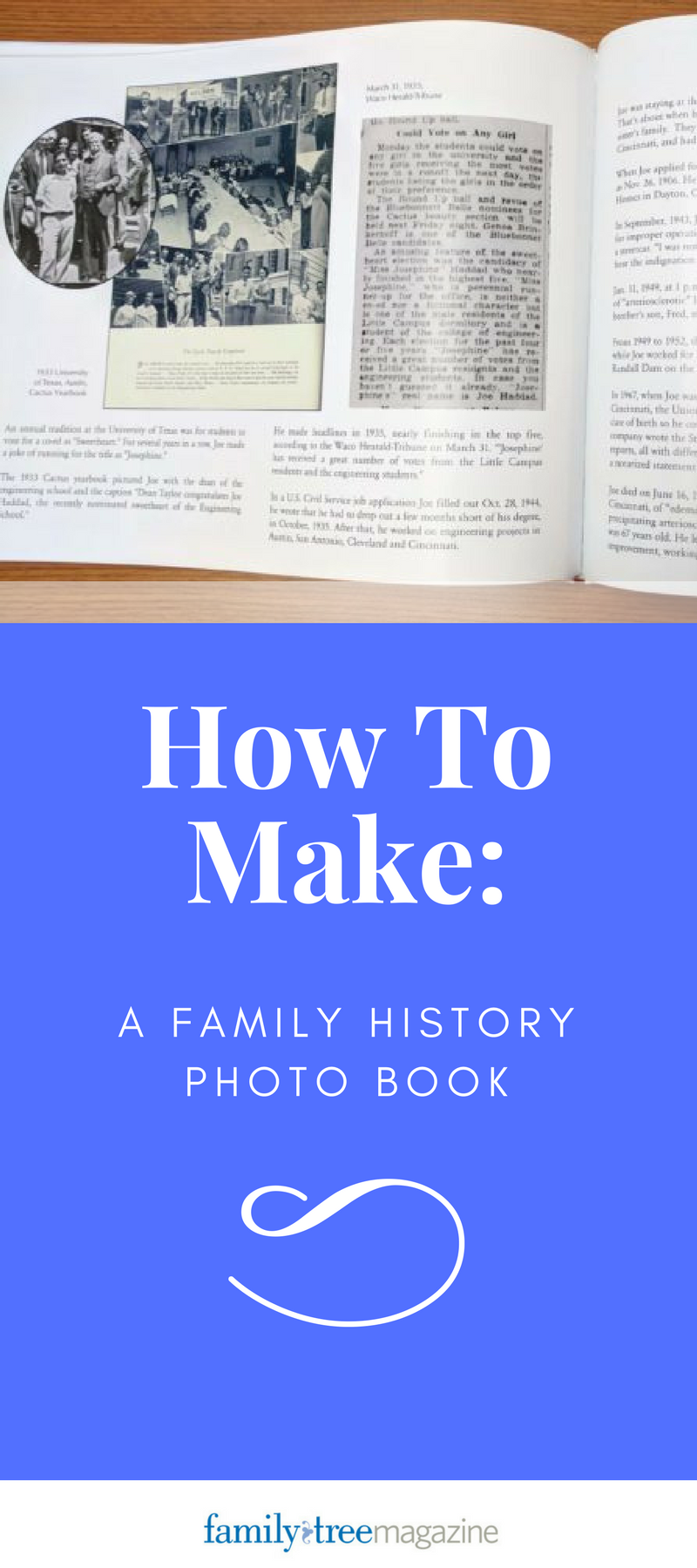 create a family history photo book for the holidays geneaology