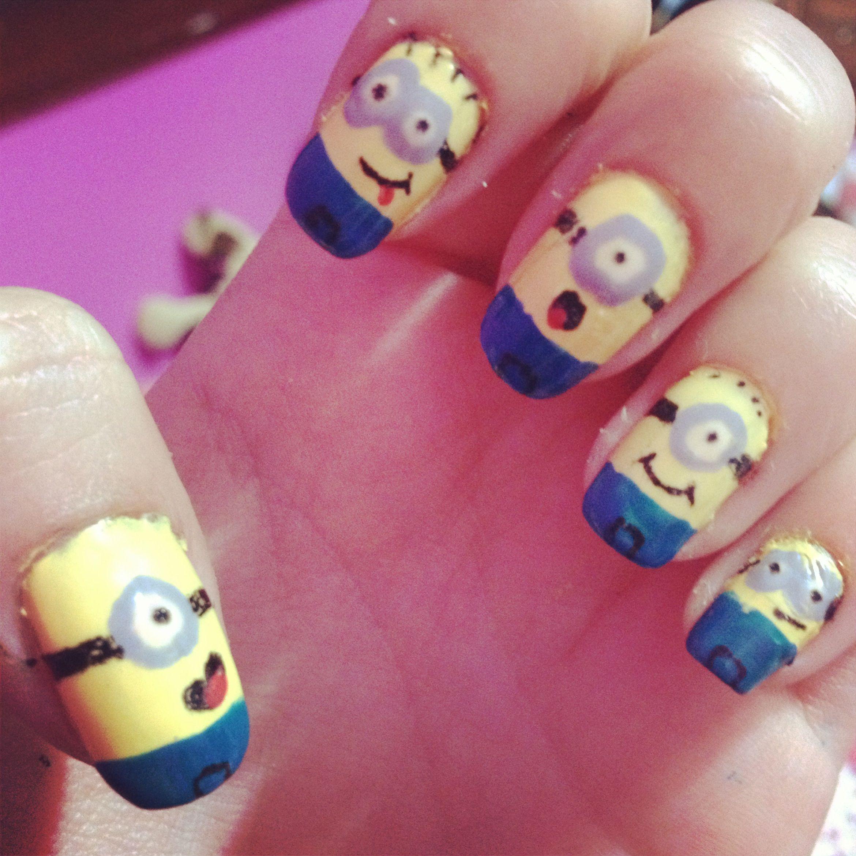 Minions Nail Art | My nail arts! | Pinterest | Minion nail art and ...