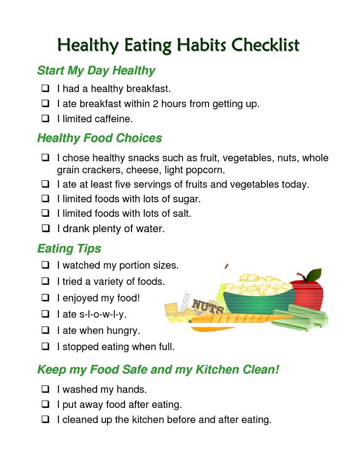 healthy food habits essay