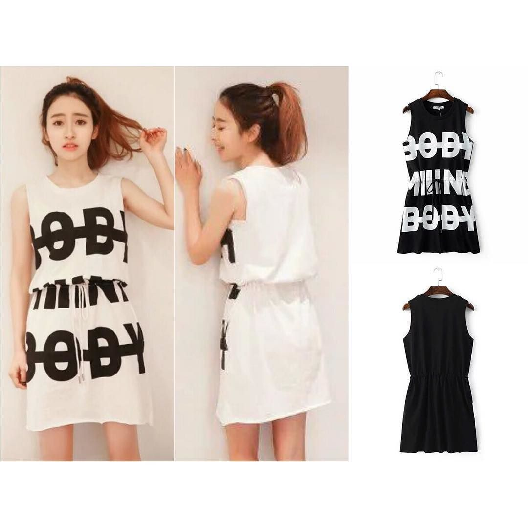 E 40400 - Black / White Body IDR 162.000 Material : Cotton All size fit to L by eclairboutique