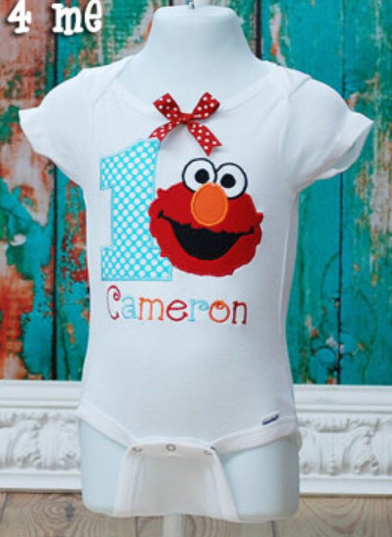 Sesame Street Elmo 1 Onesie Find This Pin And More On Birthday Party Year Old