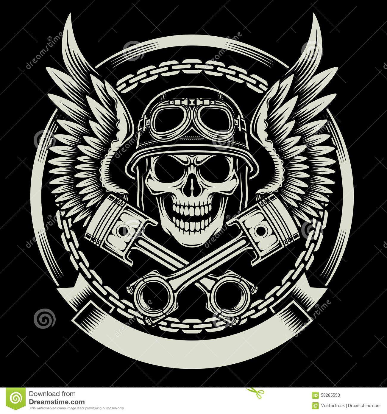bikers skull logo - photo #2