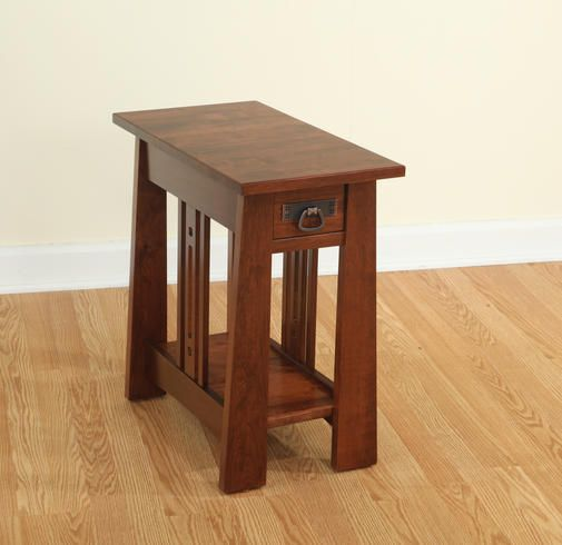 Aspen Mission Style Narrow End Table | Amish Furniture | Solid Wood Mission  Shaker Furniture |